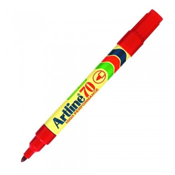 Artline 70 Permanent Marker EK-70 - Refillable 1.5mm Red EK-70-R
