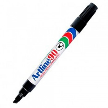 Artline 90 Permanent Marker - EK-90 Refillable 2-5mm Black
