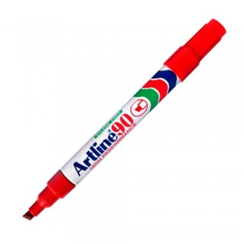 Artline 90 Permanent Marker - EK-90 Refillable 2-5mm Red EK-90-R