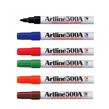 Artline 500A Whiteboard Marker Set EK-500A/6W - 6 Colors