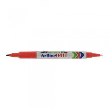 Artline EK041T Twin Permanent Marker 0.4&1.0mm-Red