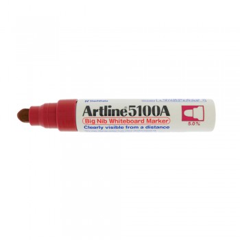 Artline 5100A whiteboard Big nib marker 5mm - Red