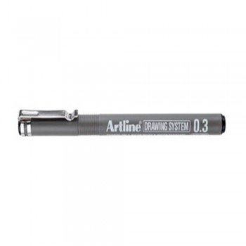 Artline Black Drawing System Pen 0.3mm (EK-233)