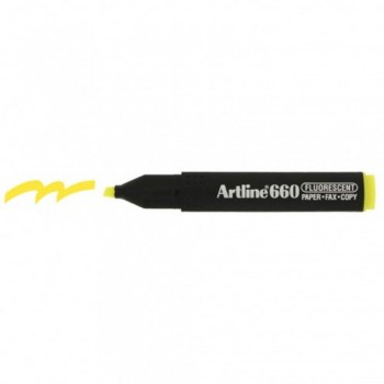 Artline 660 Highlighter EK660 - Fluorescent Yellow