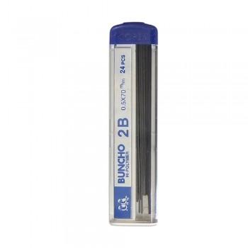 Buncho Pencil Lead 24 pieces 2B 0.7mm