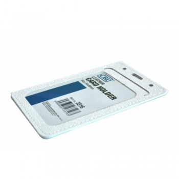 CBE Leather Card Holder 3316 - White (Single Sided ) (Item no: B10-44 W) A1R3B66