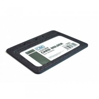 CBE Leather Card Holder 3322 - Black (2 Sided ) (Item no: B10-41 BK) A1R3B63