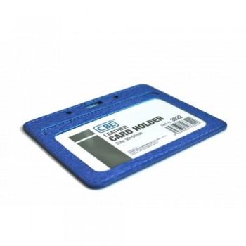CBE Leather Card Holder 3322 - Blue (2 Sided ) (Item no: B10-41BL) A1R3B63