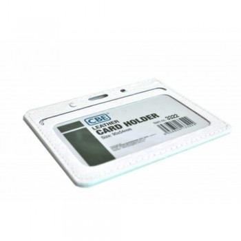 CBE Leather Card Holder 3322 - White (2 Sided ) (Item no: B10-41 W) A1R3B63