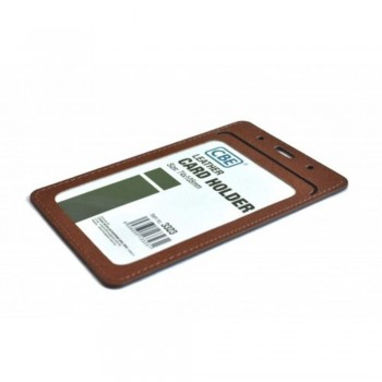 CBE Leather Card Holder 3323 - Brown (2 Sided ) (Item no: B10-40 BR) A1R3B62