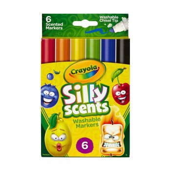 Crayola 6ct Silly Scents Chisel Washable Markers - 588197