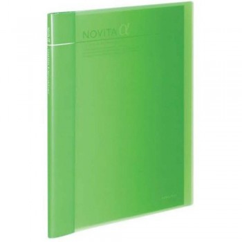 Kokuyo Novita Alpha Expandable Clear Book - Light Green