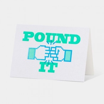 Letterpress Card - Pound It