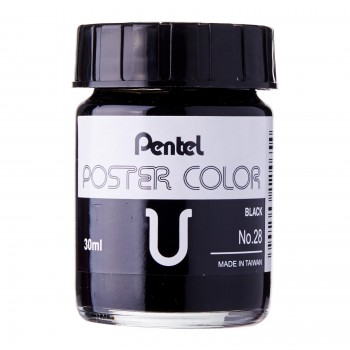 Pentel Poster Color U Black 30ml (No.28)