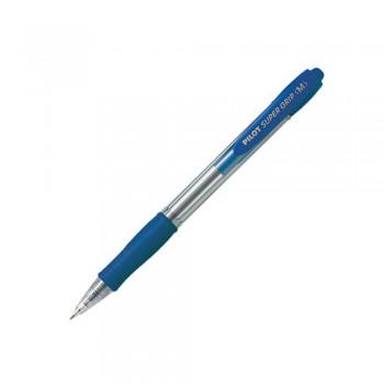 Pilot BPGP-10R Medium Super Grip Ball Pen 1mm - Blue