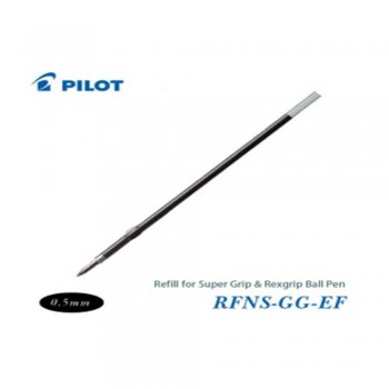 Pilot Super Grip Rexgrip Ball Pen Refill 0.5 Black (RFNS-GG-EF-B)