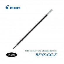 Pilot Super Grip Rexgrip Ball Pen Refill 0.7 Black (RFNS-GG-F-B)