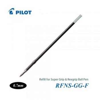 Pilot Super Grip Rexgrip Ball Pen Refill 0.7 Black (RFNS-GG-F-B)