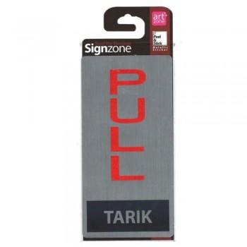 Signzone Peel & Stick Metallic Sticker - PULL (TARIK) (Item No: R01-52)
