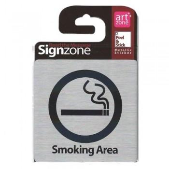 Signzone Peel & Stick Metallic Sticker - Smoking Area (Item No: R01-48)