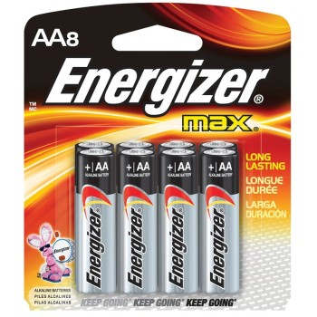Energizer MAX AA Alkaline Batteries - 8pcs pack (Item No: B06 21) E91BP8