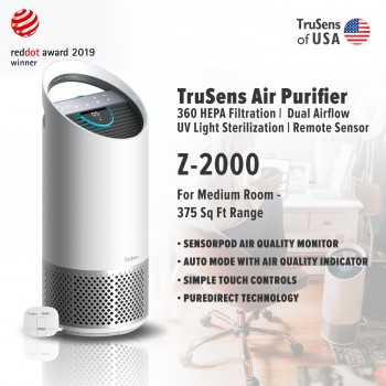 Trusens Z-2000 Air Purifier with SensorPod Air Quality Monitor, Medium Room - 375 Sq Ft Range